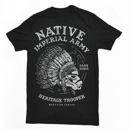 $enCountryForm.capitalKeyWord NZ - NAITIVE FIGHTER skull imperial indian westside forces mashup tshirt tee dtg mens Cotton T-shirt Round Neck man's