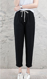 $enCountryForm.capitalKeyWord Australia - Women pants Cotton and linen nine pants spring and summer thin straight straight loose explosions Harlans trousers