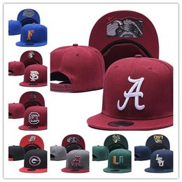 AmericAn footbAll hAts online shopping - Alabama Crimson Tide Snapbacks NCAA College Football hats Men Adjustable Hat new Fur cap american football Red