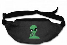 $enCountryForm.capitalKeyWord Australia - Trippy Smoke Alien Unisex fannypack Waist bag Phone Holder Adjustable Running Belt For Cycling,Hiking,Gym,belt bag