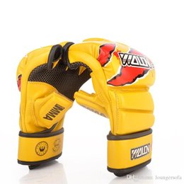 Finger glove Fight online shopping - Best Selling Half Finger Beat Glove Combat Fighting Sandbag Thickening Thai Boxing Gloves Punch Fitness Equipment Hot Sale dc Ww