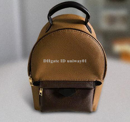 Wholesale Mini Backpack women School bag Handbag woman shoulder bag flowers palm spring