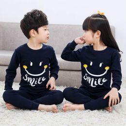 d16c1fab1 Nueva llegada niños pijamas conjunto de algodón niños niños ropa de dormir  niñas bebés de dibujos animados Homewear ropa de dos piezas conjuntos  pijamas ...