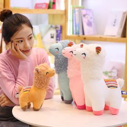 games for birthdays NZ - Lovely 25 35 45cm Alpaca Llama Plush Toy Doll Animal Stuffed Animal Dolls Soft Plush Alpaca For Kids Birthday Gifts 4 Colors