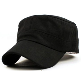 ea4eec7f6e4 Fashion Men Women Multicolor Unisex Adjustable Classic Style Plain Flat  Vintage Army Hat Cadet Patrol Cap Best snapback