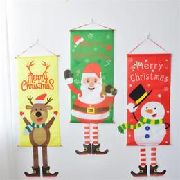 $enCountryForm.capitalKeyWord Australia - New Christmas decorations Nordic fabric pendant Santa Claus restaurant elk jewelry wall hanging painting window