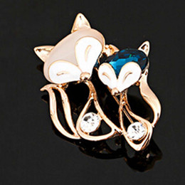 $enCountryForm.capitalKeyWord Australia - Cute Rhinestones Animal Brooches Pin For Women Rose Gold Brooch With Cat Eye Charming Brooches For Love Gift