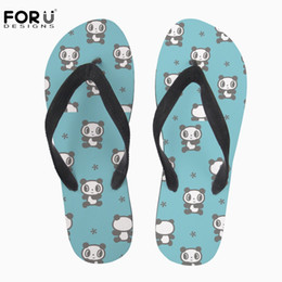 pandas slippers Australia - FORUDESIGNS Fashion Summer Soft Flip Flops Cute Cartoon Animal 3D Panda Print Women's Casual House Slippers For Teenage Girls