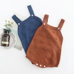 07ea6b0d2204 2019 Spring New Baby Romper Clothing Knit Cotton Baby Boy Girl Sleeveless Sweater  Baby Romper Newborn Clothing Wholesale