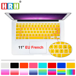 French Books NZ - HRH Waterproof French UK EU Silicone Soft Color AZERTY Keyboard Cover Skin Protector For Mac Book Air 11 11.6 inch A1465 A1370