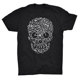 $enCountryForm.capitalKeyWord Australia - Bike T Shirt Think Bike Think Biker Bicycle Skull Skeleton Cycling Cycle Ride
