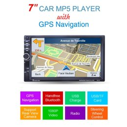 gps handsfree NZ - 7021G 7-Inch 1080P HD Touch Screen Car MP5 Player GPS Navigation Handsfree Bluetooth FM Radio Tuner AUX Audio Input