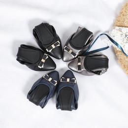 Cotton Candy Color Shoes Australia - Enamel Metal Buckle Flat Heel Ballet Flats Candy Color Slip On Dance Flats Women Sheepskin Genuine Leather Shoes Sz 35-40 wl18081205