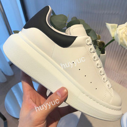 Wholesale Top Quality Mens Womens Black Velet Platform Casual Shoes White Genuine Leather Trainers Comfort Pretty Girl Wholesale Style Casual Shoes