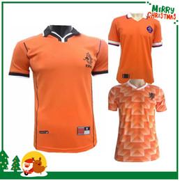 Retro 1988 1998 Netherlands Soccer Jerseys Classic Vintage Holland Germany  Argentina ZIDANE HENRY MEXICO VAN BASTEN football Shirt 39559ed5a