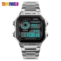 $enCountryForm.capitalKeyWord Australia - SKMEI Luxury Sport Watch Men's Digital Watch Top Fashion Male Clock Compass Chrono Man Wrist Watches New Hot 1382