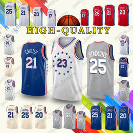 8cc53dd4d Philadelphia Ben 25 Simmons Jerseys 76ers Jimmy Butler Joel Embiid Jersey  18 19 new Earned Edition Cheap sales t shirt