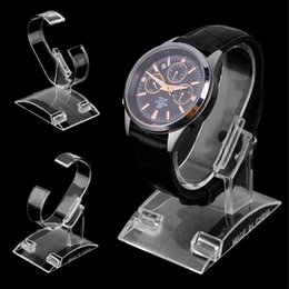 Plastic Wrist Bracelet Watches Australia - top quality Clear Acrylic Bracelet Watch Display Holder Stand Rack Retail Shop Showcase Plastic Transparent Wrist Watch Display Rack Holder