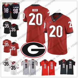 UGA Georgia Bulldogs # 20 JR Reed 51 David Marshall 52 Tyler Clark 71 Andrew Thomas 97 Brooks Buce Hommes Maillot Football Enfants
