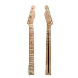 Vente en gros Remplacement de manche de guitare en érable flammé de 21 frettes pour guitare F5 Tele Telecaster p5