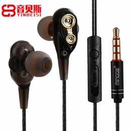 Dual Brand Stereo Australia - QiChen M20 Sport Headphone with Microphone Dual Dynamic Driver Hifi Earphone Stereo Sound Headset for Samsung S10 Note8 S9 iPX Smart Android