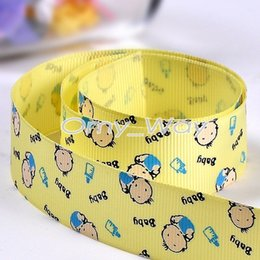 packaging bows Canada - 7 8 Inch 22mm Babies Feeding bottles Print Grosgrain Ribbons for DIY Craft,Zakka,Hair Bow,Sewing,Packaging ribbon,Tape 100yards