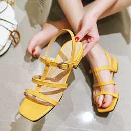 Soft SandalS for ladieS online shopping - All Size US1 Classic Sandals Fashion lady Sandals for womens Kid Shoe Metal buckle Flats Shoes Heel cm Color