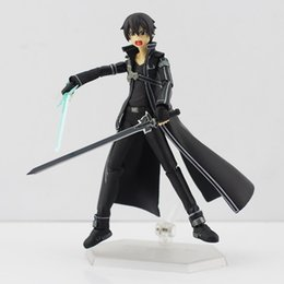 Chinese  Free Shipping Hot 2019 Hot Anime Sword Art Online kirigaya kazuto Figma 174 PVC Action Figure Collectible Model Toy for kids toy 14.5CM manufacturers