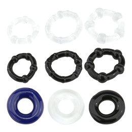 $enCountryForm.capitalKeyWord NZ - Danceyi 3pcs set Adult Product Silicone Cock Rings Delaying Ejaculation Rings Penis Ring Flexible Glue Cock Ring Sex Toys for Men av016