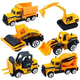 toy trucks for boys Australia - Wholesale 60pcs lot Mini Alloy Engineering Car Model Tractor Toy Dump Truck Model Classic Toy Vehicles Mini Gift For Boys