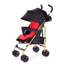 $enCountryForm.capitalKeyWord Australia - Baby stroller can sit reclining and light folding local gold tube absorber brakes four seasons use steel pipe material
