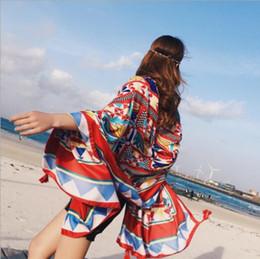$enCountryForm.capitalKeyWord Australia - New Luxury Printing Ethnic Style Spring Scarf Women Big Size Long Scarves Women Cotton Scarf Sunscreen Shawls Silk Scarf A192141