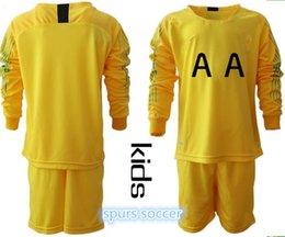 Hot Spur Kids 2018 2019 Long Sleeve 1 Hugo Lloris Goalkeeper Soccer Jersey  Set GK Goalie 13 Vorm 22 Gazzaniga Football Shirt Kits Uniform 6ae8cddbf