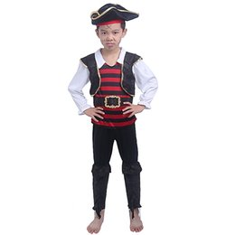 Pirate Suits Australia - wholesale Pirate Children Boy Suit Party Mascot Clothing Magician Cloak Masquerade Princess Skirt Halloween Costumes For Kids