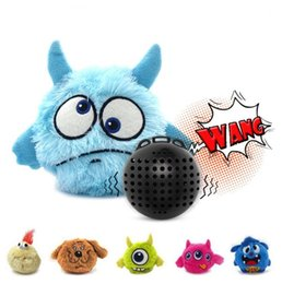 Puppies Playing Toys UK - Hot Pet Puppy Sound ball leakage Food Ball sound toy ball Pet Dog Cat Squeaky Chews Puppy Squeaker Sound Pet Supplies Play