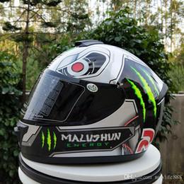 Full Race Helmet NZ - Free Shipping Brand Malushun Motorcycle Helmet Full Face Motorbike Men Racing Casque Moto Casco New Arrival
