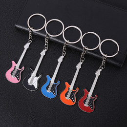 bass keys Australia - Guitar Keychain Creative Design Bass Guitar Musical Instrument Keychain Gift Fashion Backpack Pendant Music keychain Singer pendant
