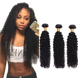 $enCountryForm.capitalKeyWord Australia - Malaysian Virgin Hair 8A Grade Kinky Curly Hair Weave Bundles Natural Black Color 100% Human Hair Extensions