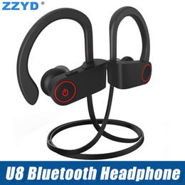 EarphonEs rEd color online shopping - Hot Bluetooth Headset V4 Ear Hook Headphone Earbuds B Wireless Sweatproof Sport Earphone head ear phone for iPhone X Samsung
