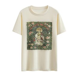da5bc607f6f Discount rabbit tee shirt - 2019 New Delivery Summer Style Rabbit Printed  Women Men Cute T