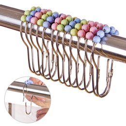 $enCountryForm.capitalKeyWord Australia - Metal Shower Curtain Hooks Durable Bath Curtain Pothook Clasp Rolling Hangers Sliding Flying Rings Bathroom Accessory