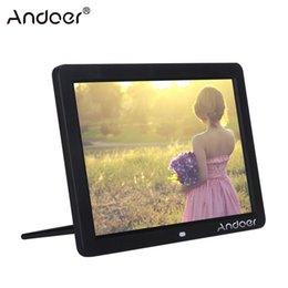 "led digital photo frames Canada - Andoer 12"" Wide Screen HD LED Digital Picture Frame Digital Album 1280*800 Electronic Photo Frame with Remote Control T200320"