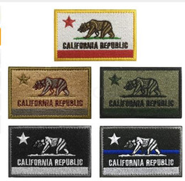 $enCountryForm.capitalKeyWord Australia - Embroidery Patch USA California State Flag Morale Patch Tactical Emblem Badges Appliques Embroidered Patches For Jacket Backpack