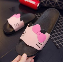 Cartoon Beach Sandals NZ - New fashion women's shoes women shoes flat bottom loafers and cartoon women's flat sandals slippers flip-flop beach