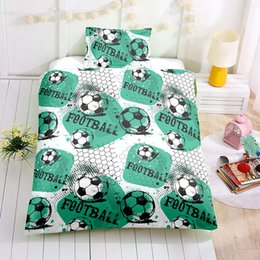 3d Bedding Set White Rose UK - Thumbedding Dropship White Black Football Bedding Sets for Kids Children Twin Full Queen King 3D Duvet Cover Set with Pillowcase
