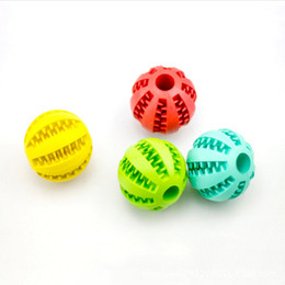 Home Cartoon Toys Australia - 5cm 7cm Home & Garden Pet Dog Toy Rubber Ball Toy Funning Light Green ABS Pet Toys Ball Dog Chew Toys Tooth Cleaning Balls of Food DHL