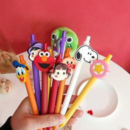 Types Pens Australia - Lovely Cartoon Sesame Street Snoopy Milky Girl Bread Neutral Pen Black Ink Press Type Gel Pen Kids Gifts School Supply