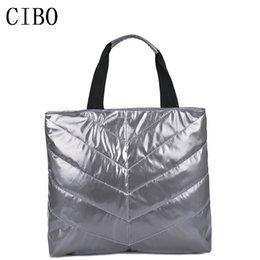 Winter cotton tote handbag online shopping - New Women s Handbag Feather Bags New Winter Space Bags Han Edition Down Padded Cotton Tote Bag For Women Women s Shoulder Bag