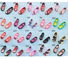 $enCountryForm.capitalKeyWord Australia - Kids Cartoon Antiskid Sandals Mini Melissa Designer Shoes Soft Brethable Holes Rainbow Jelly Sandals Girls Slipper Beach Water Shoes A61301