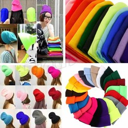 59a60ff5d3f488 Winter hat Slouch Beanie hats Knitted hat Beanie Skull Caps candy hat sport  party decor christmas gifts hats Skull Caps I484